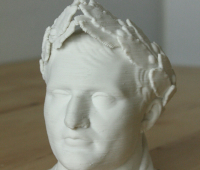 Ceramic bust of Caesar created with WASP 3D printer