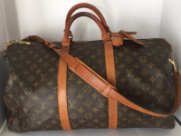 Louis Vuitton preowned Keepall 50 Duffle Travel Bag monogram canvas and leather