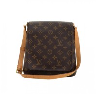 Louis Vuitton, preowned, musette, salsa, shoulder bag, monogram