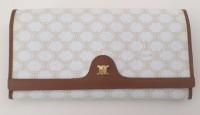Celine, Vintage, Macadam Wallet, White, preowned, luxury