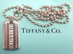 Tiffany Atlas Dog Tag   SALE $108