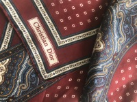 Christian Dior, Dior, vintage, pocket square, handkerchief, scarf