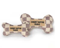 parody dog toys, designer dog toys, dog toys, chewy vuiton, chewnel