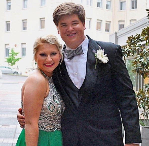 Prom-goers Rachel Newman and Colin McCracken accompany one another to East Hamilton's Night in the C