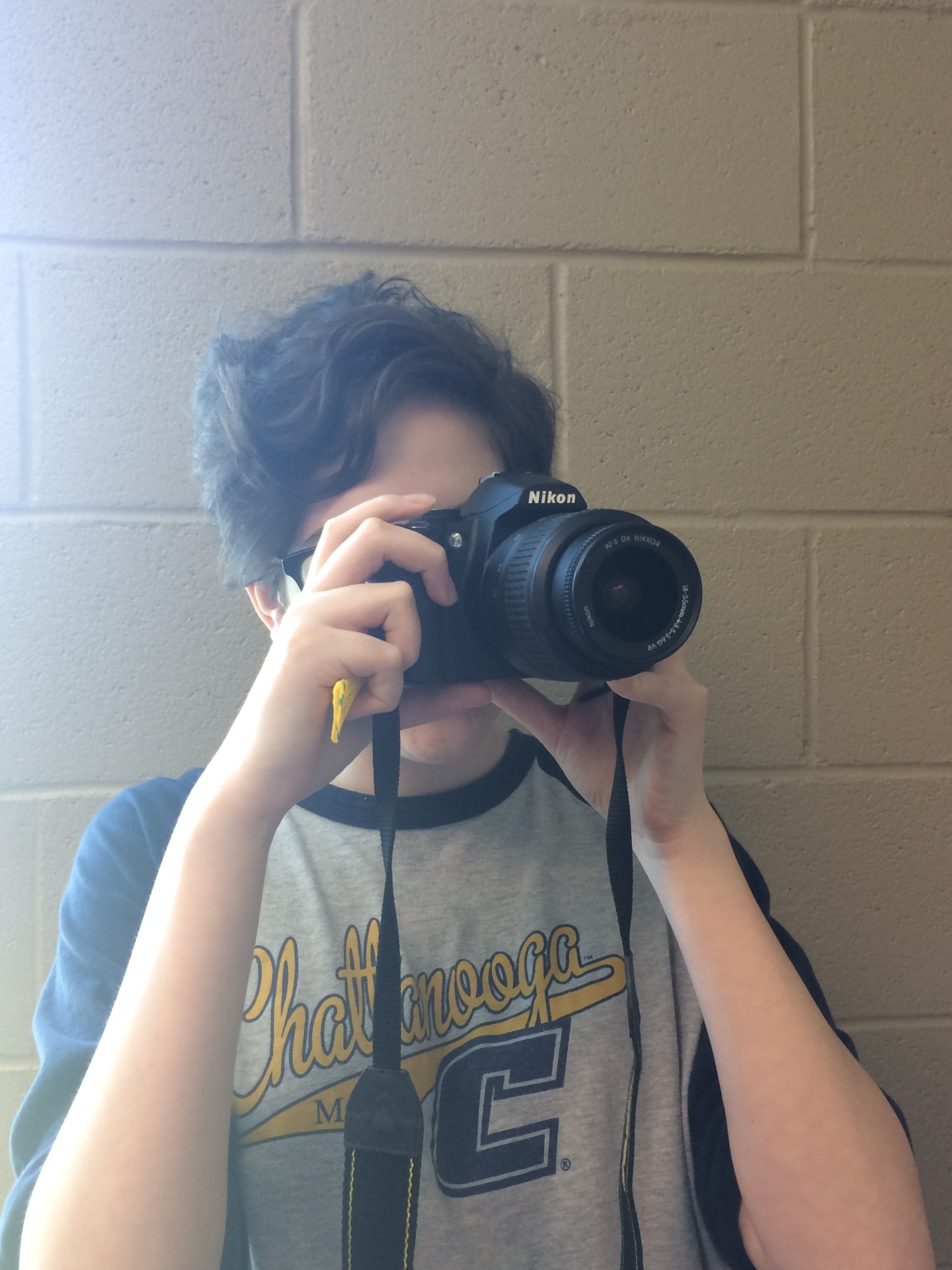 Charity Goode shows off some of her photography skills for prom.