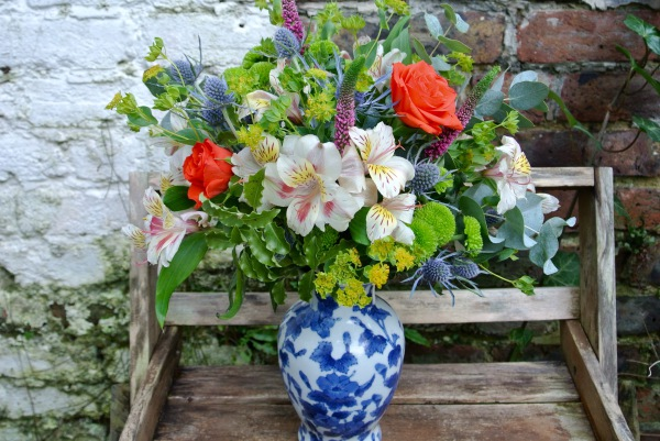 Mix flowers vase