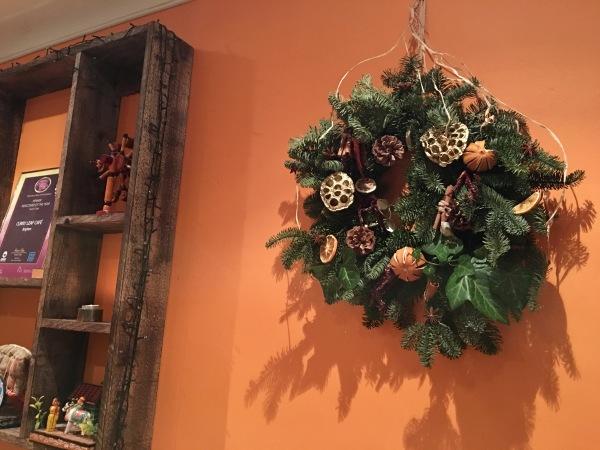 Curry Leaf Cafe Winter Wreath