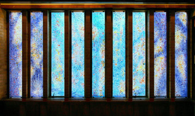 """Wisdom Windows"" Fused Glass Windows by Sarah Hall"