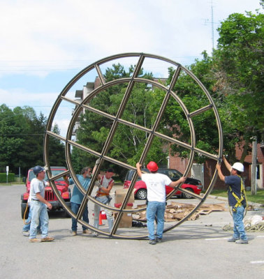 wheeling rose window frame like moving the tombstone away