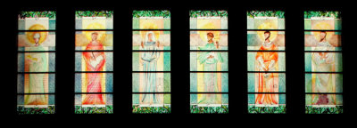 doctors of the church stained glass windows by Sarah Hall