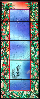 baptism stained glass window by sarah hall