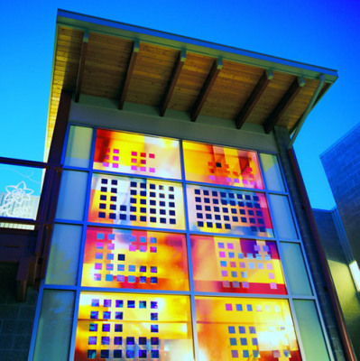 Sarah Hall's colourful, playful educational solar project for an elementary school
