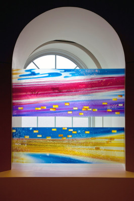vibrant rich colour in cast glass by Sarah Hall