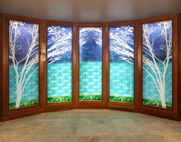 """""""Garden of Eden"""" Windows by Sarah Hall"""