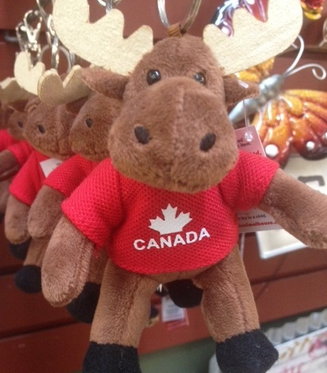 These keychains are so cute! Bears, moose and more all proudly wearing their Canadian hoodies!