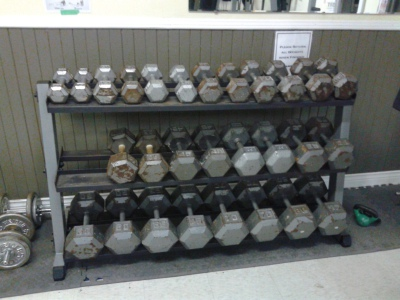 Our New to Us dumbbells