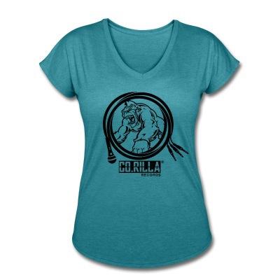 Women's V-Neck Corilla Records Tri-Blend T-Shirt