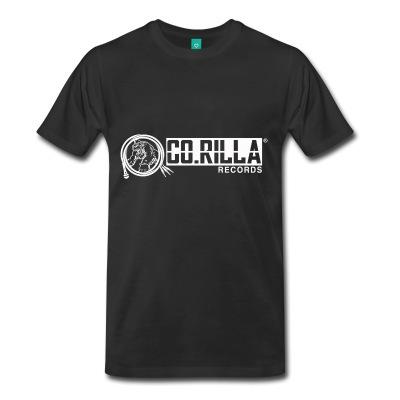 Men's Premium Corilla Records T-Shirt (Full Side Logo White)
