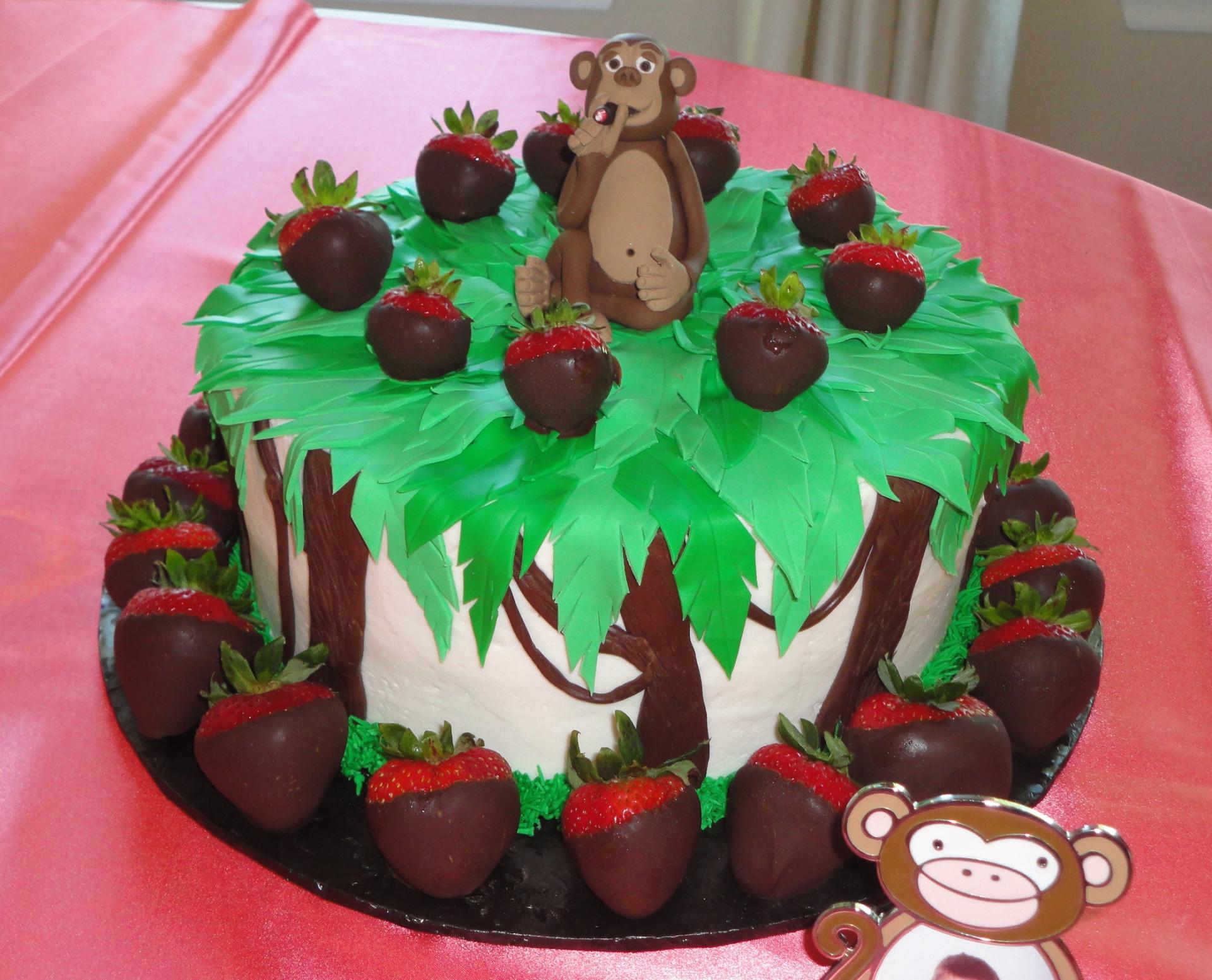 grooms cake, monkey, cigar