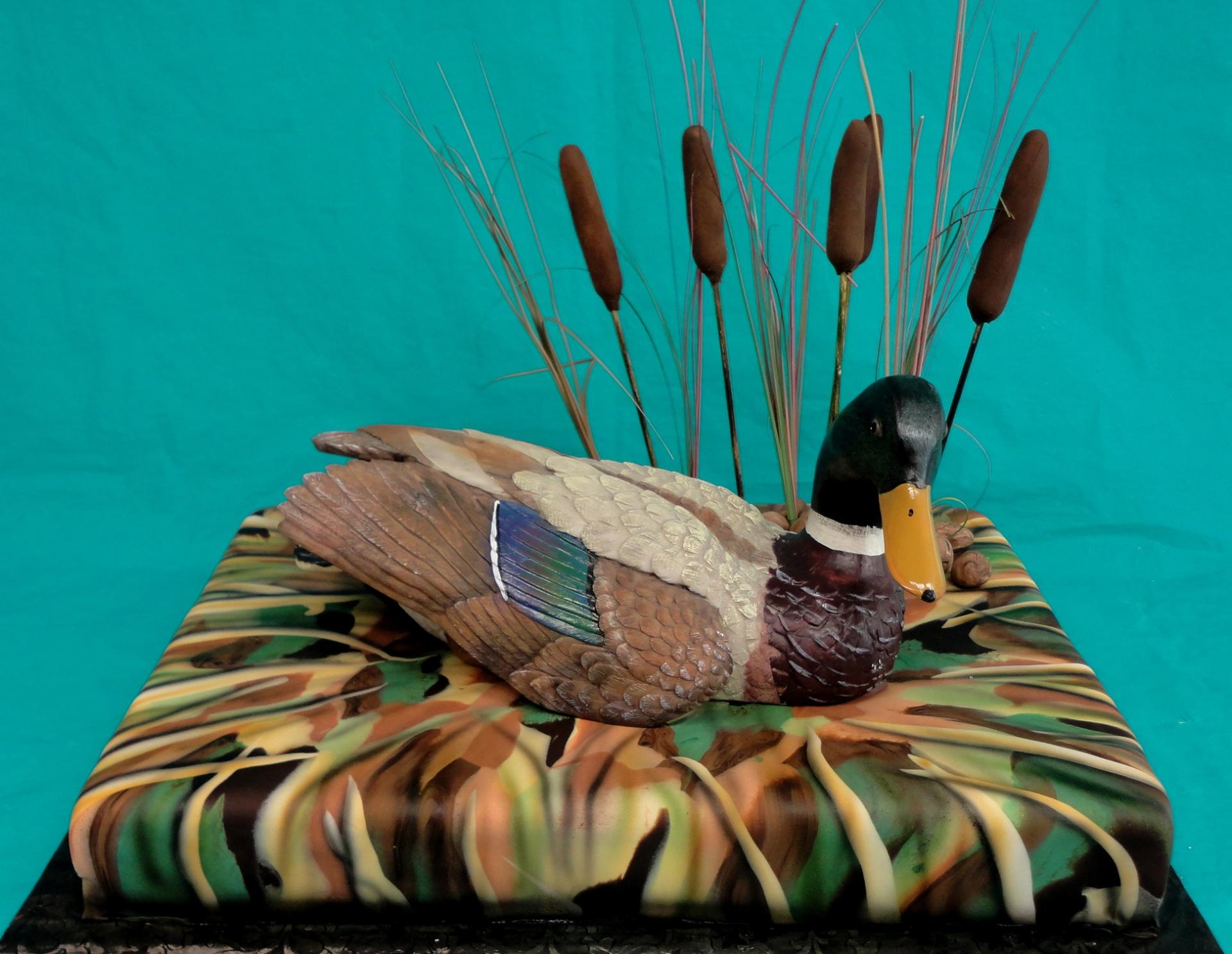 duck cake, shadow grass