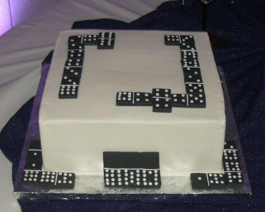 dominoes cake