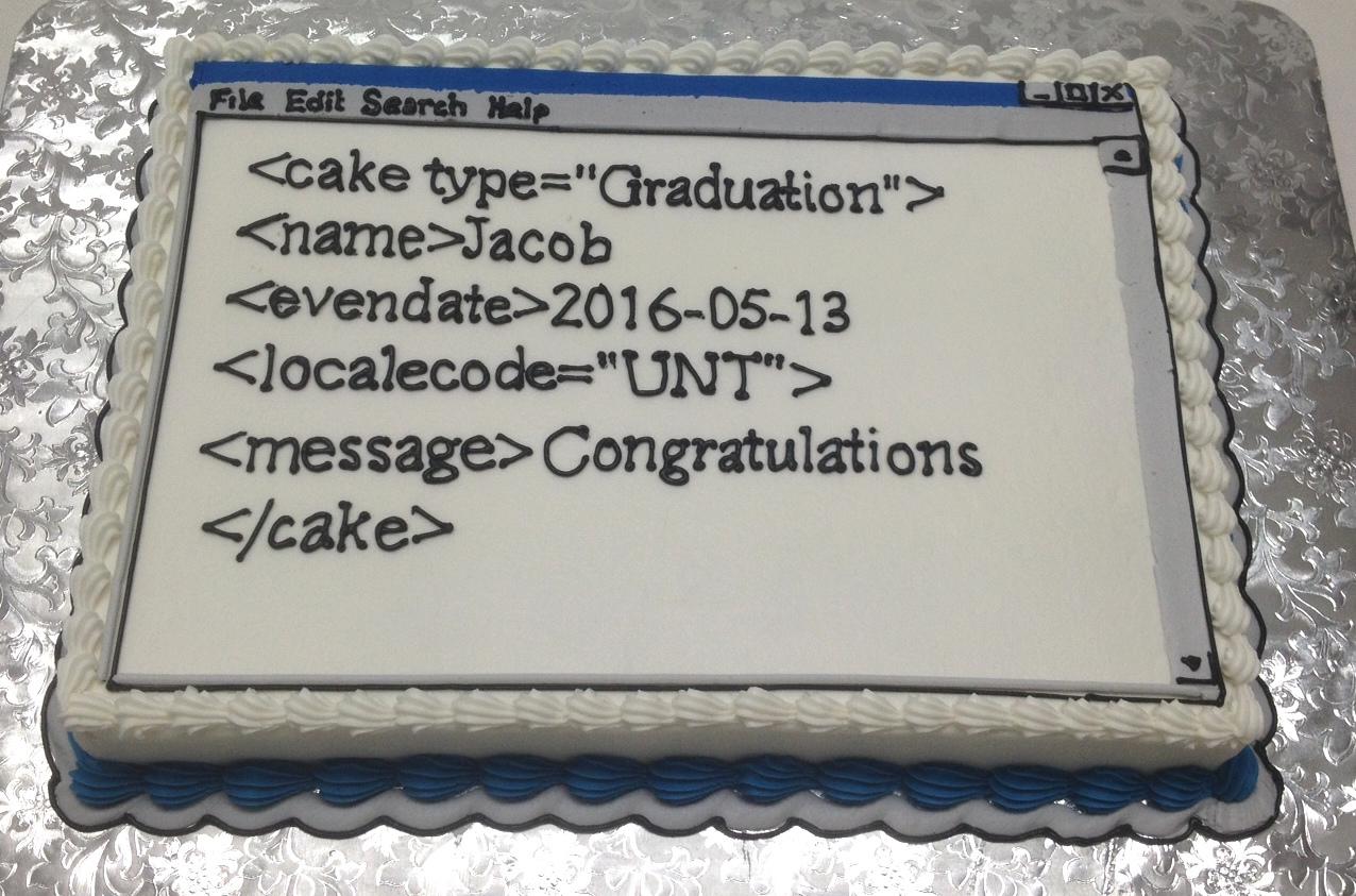 computer screen code cake
