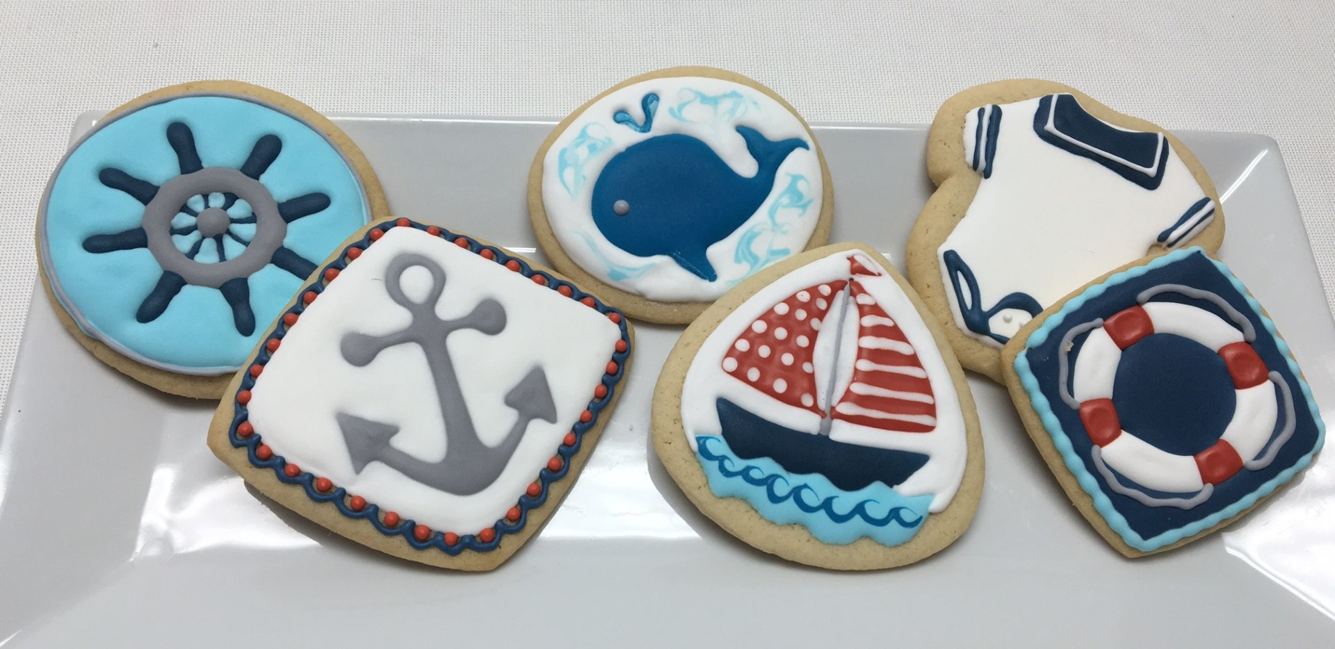 nautical, boat, ocean cookies