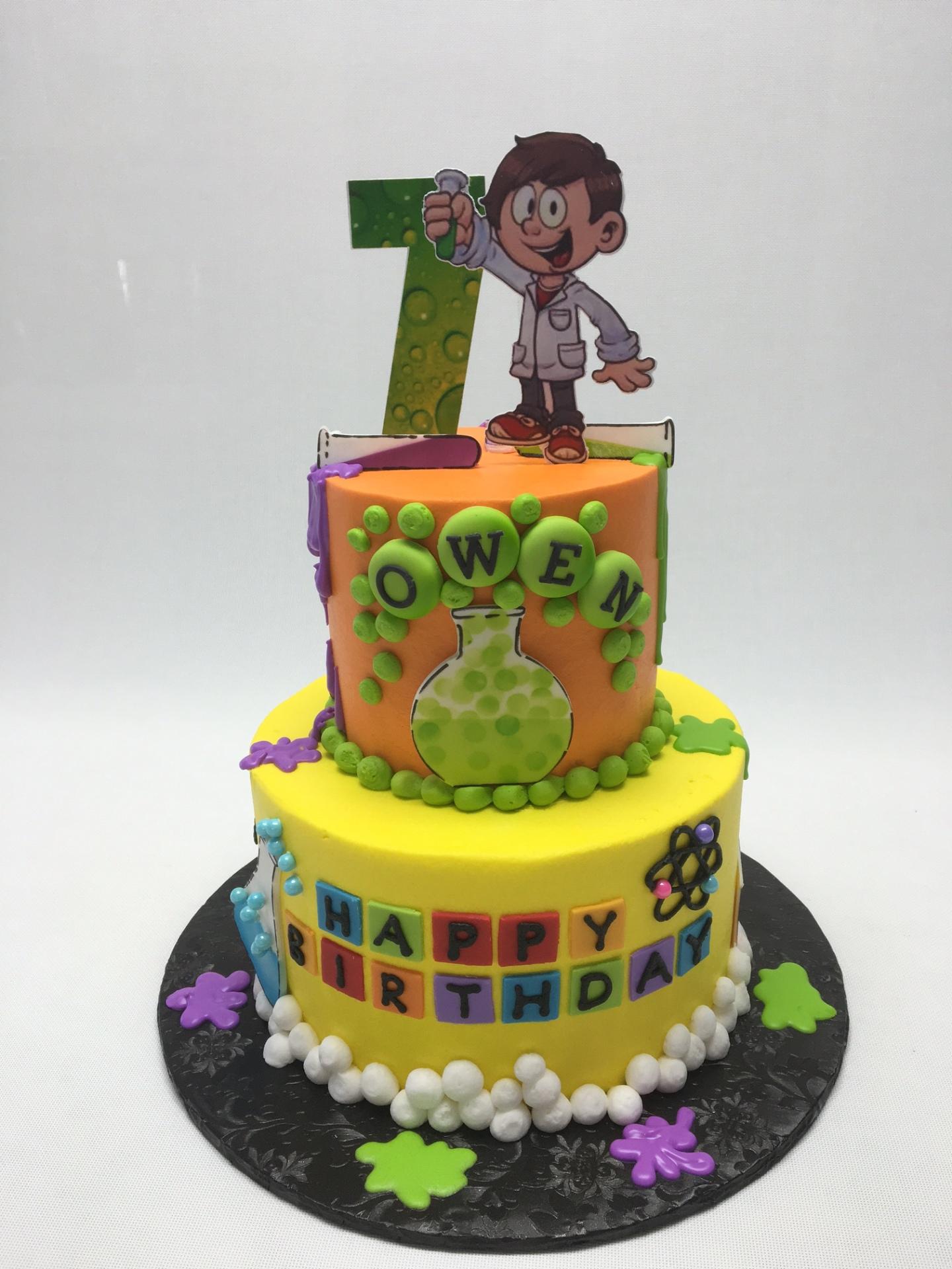 mad scientist cake, nerd cake,