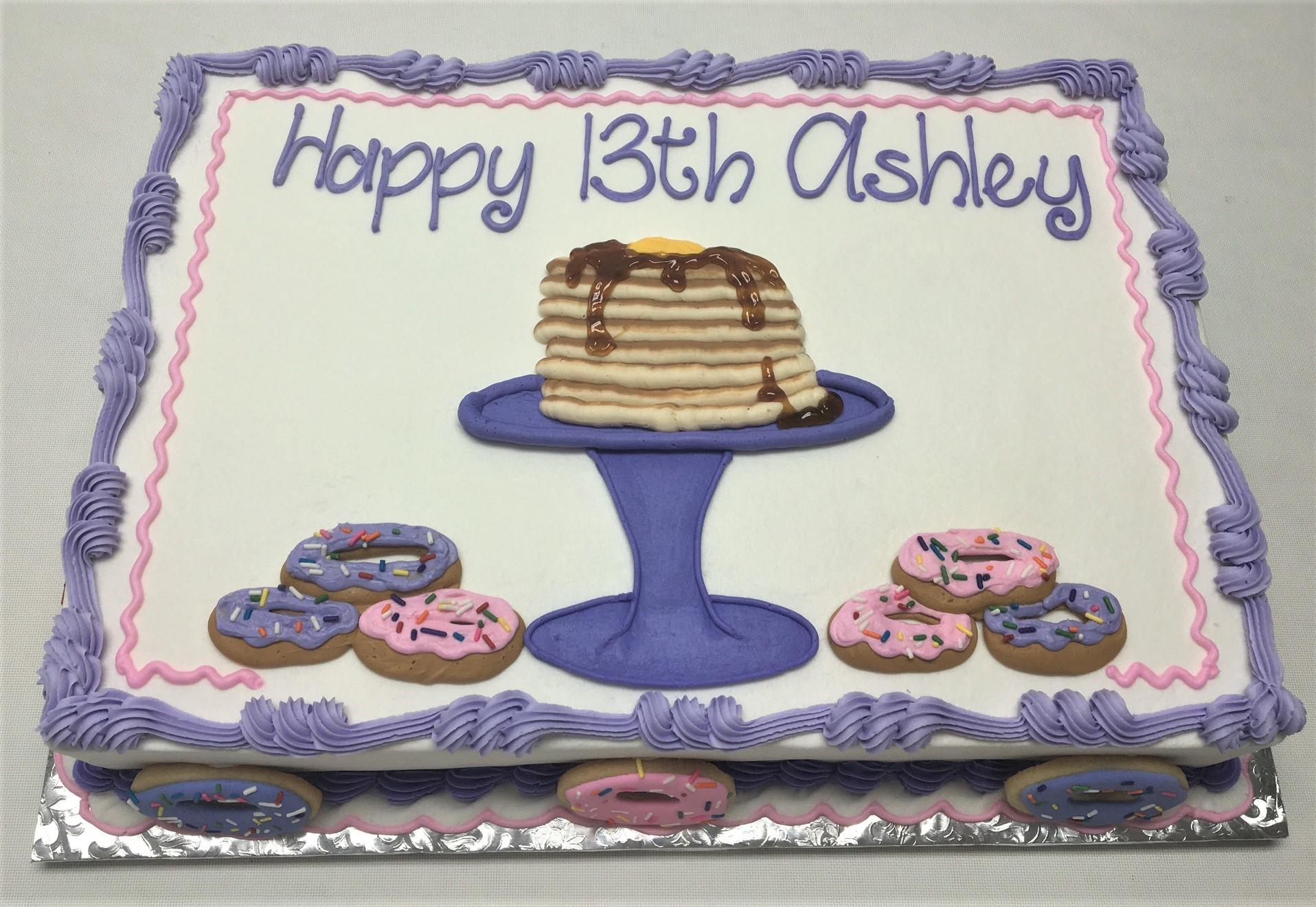 pancake cake, donut cake