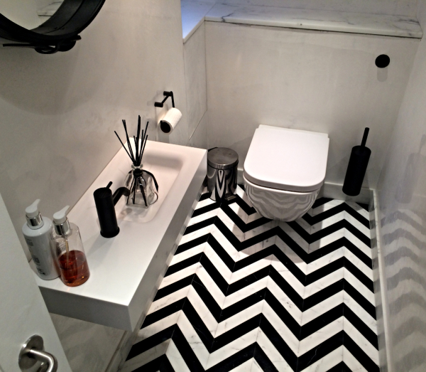 Geometric Bathroom