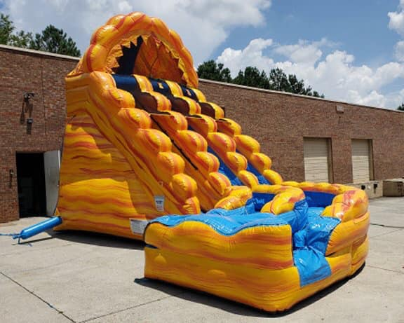 20' Dual Lane Raging Inferno Water Slide w/ Splash Pool
