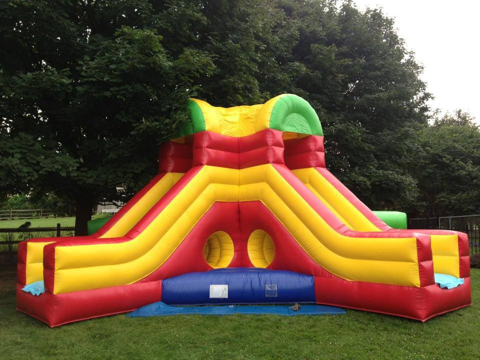 Inflatable Double Slide Bounce Maze