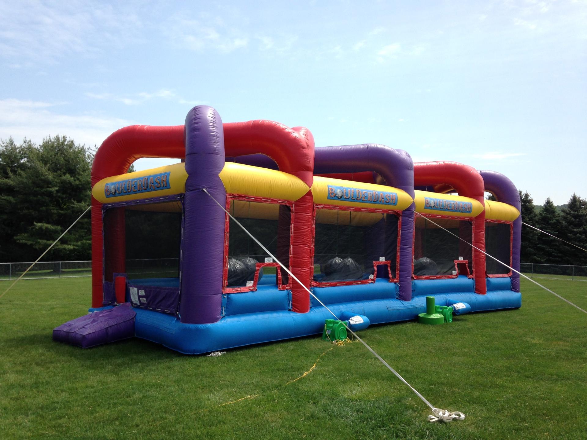 Inflatable Boulder Dash Sport Game Rentals Lancaster Pa