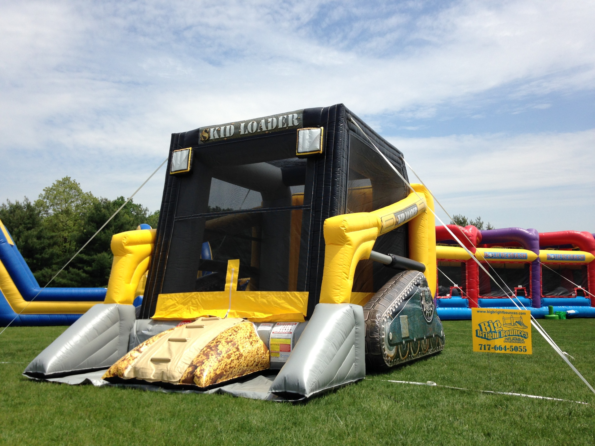 Inflatable Skid Loader Bounce House