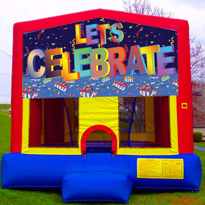 Inflatable Let's Celebrate Bouncer
