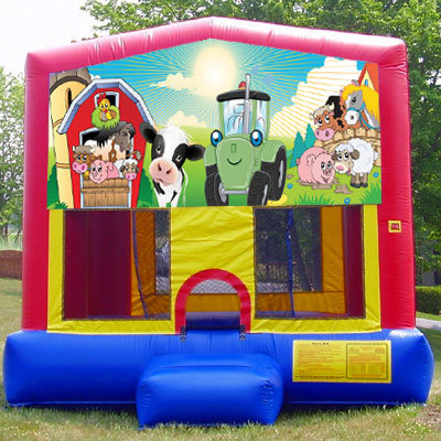 Inflatable Farm Barn Bouncer