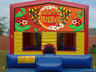Happy Birthday Bounce House Lady Bugs