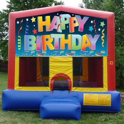 Inflatable Happy Birthday Bouncer
