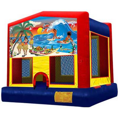 Inflatable Tropical Luau Beach Bouncer