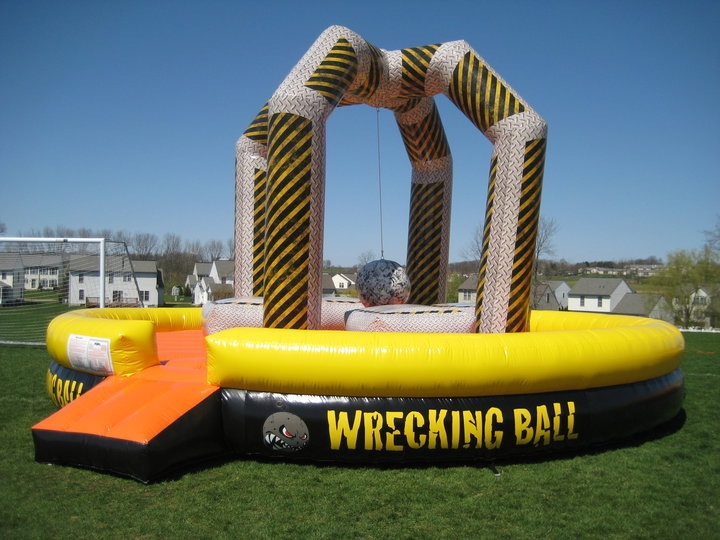 Inflatable Interactive Wrecking Ball  Rentals Lancaster Pa