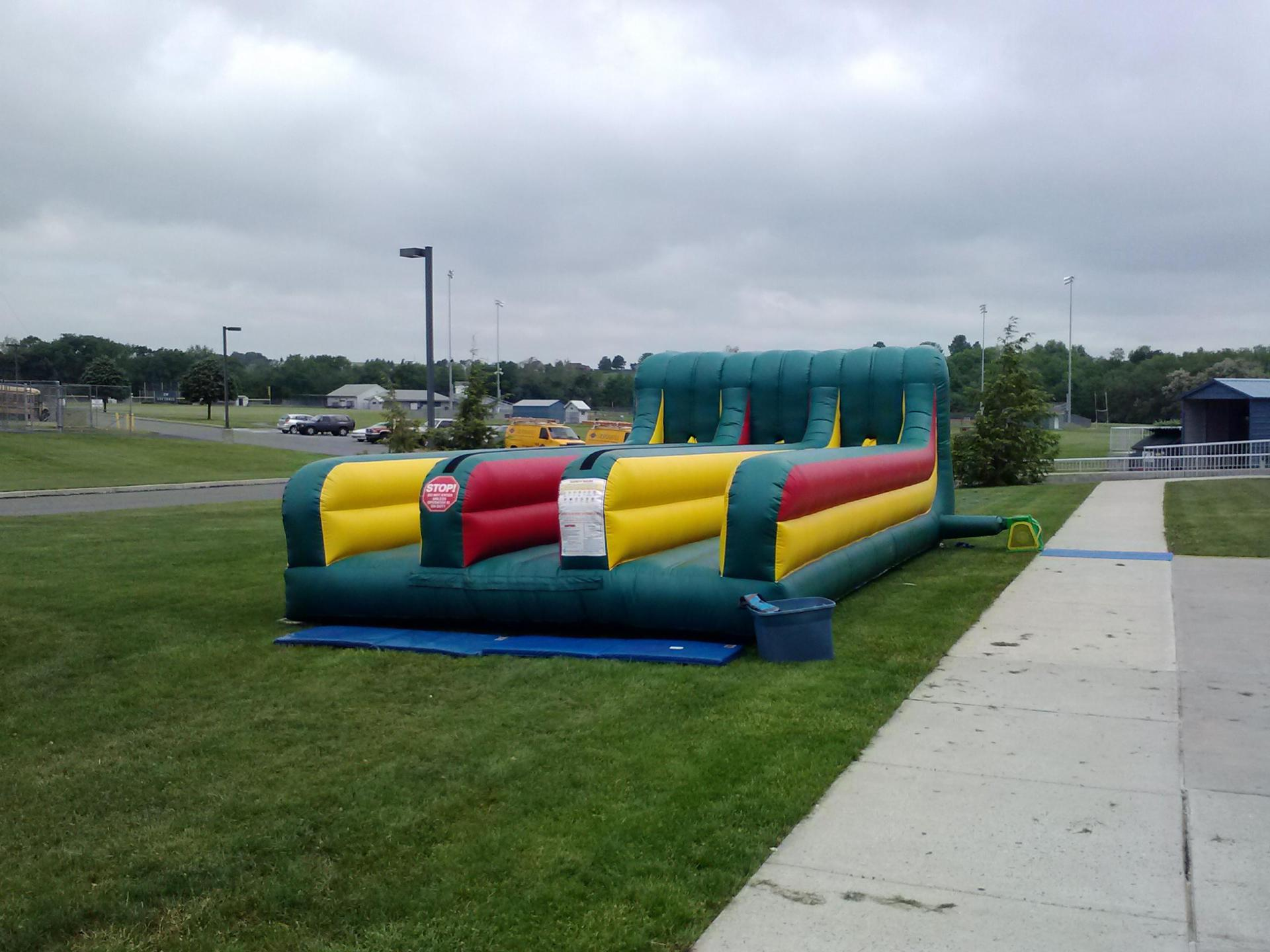 Inflatable Interactive 3 Lane Bungee Run Rentals Lancaster Pa