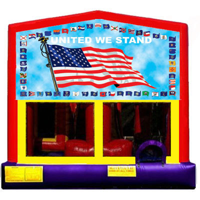 Inflatable American Flag Bouncer