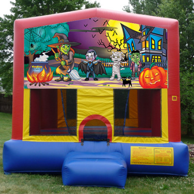 Inflatable Witches Brew Halloween Bouncer