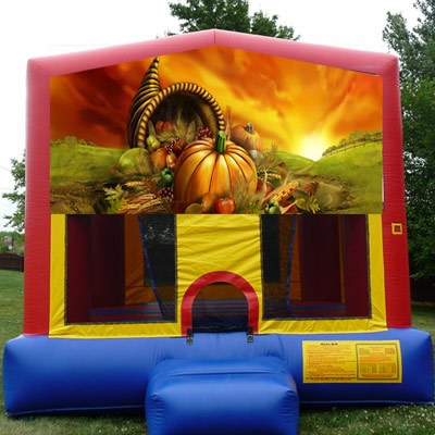 Inflatable Fall Harvest Bounce House