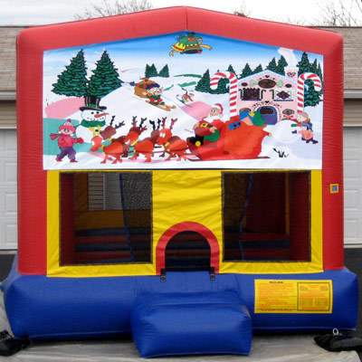 Inflatable Merry Christmas Bouncer