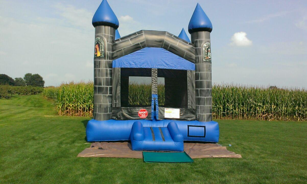 Inflatable Blue & Gray Castle Bounce House