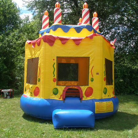 Inflatable Birthday Cake Bouncer