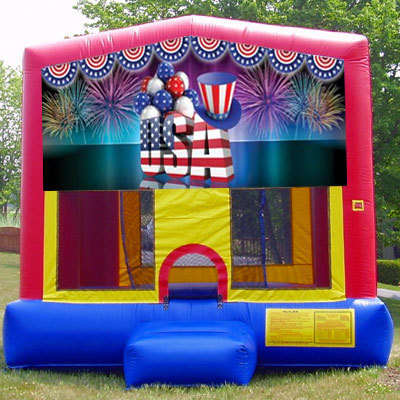 Inflatable Patriotic American Themed Bouncer