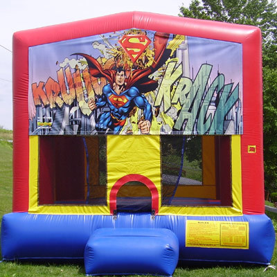Inflatable Superman Bounce House Jumper Castle