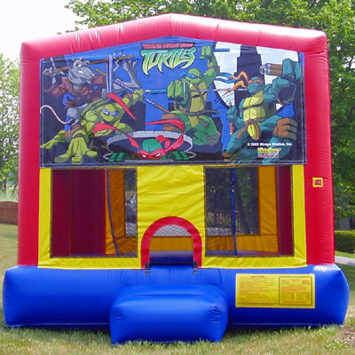 Inflatable Ninja Turtles Bounce House Jumper Castle